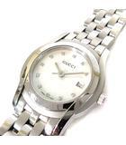 グッチ GUCCI 腕時計 5500L 11Pダイヤ ダイヤモンド ホワイトシェル文字盤 クオーツ シルバー