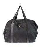 プラダ PRADA ボストン バッグ 旅行かばん トラベル ナイロン テスート レザー 黒 鞄