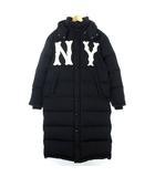グッチ GUCCI 18AW 18FW New York Yankees Patch Nylon Coat ニューヨーク ヤンキース NY ダウン コート パッチ ナイロン ロゴ 刺繍 黒 ブラック 50 アウター IBS46 ☆AA★