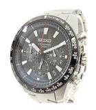 セイコー SEIKO 腕時計 クロノグラフ クオーツ 6T63 00D0 黒文字盤 シルバー
