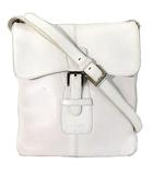 ロエベ LOEWE ショルダー バッグ レザー バックル スクエア マチなし 白 ホワイト 鞄