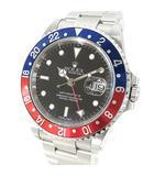 ロレックス ROLEX 腕時計 GMTマスター2 16710 P番 自動巻き 赤 青 ベゼル シルバー ☆AA★