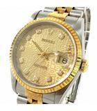ロレックス ROLEX 腕時計 デイトジャスト DATE JUST ホリコン 10P W番 新ダイヤ ダイヤモンド 16233G 自動巻き コンビ シルバー ゴールド ☆AA★
