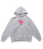 シュプリーム SUPREME 20AW Cross Box Logo Hooded Sweatshirt パーカー フーディー スウェット クロス ボックス ロゴ グレー L トップス ☆AA★