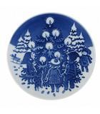 ロイヤルコペンハーゲン ROYAL COPENHAGEN チルドレンズ クリスマス プレート 1998 Bornenes Jul Platte 皿 食器 ミニプレート 付き 青 ブルー 陶磁器