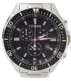 シチズン CITIZEN エコドライブ H500-S064538 動作品 ソーラー充電 クロノグラフ 腕時計 ウォッチ 日付 ストップウォッチ GN-4-S ステンレス