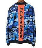 エフシーレアルブリストル F.C.Real Bristol FCRB 17SS REVERSIBLE PDK JACKET リバーシブルPDKジャケット 青 ブルー XL  FCRB-170004 迷彩 ブルゾン カモフラ ポリエステル アウター ロゴ
