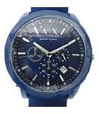 アルマーニエクスチェンジ A/X ARMANI EXCHANGE AX7107 クロノグラフ クォーツ 腕時計 青 ブルー 可動品 ラバーバンド