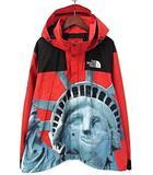 シュプリーム SUPREME × ザノースフェイス THE NORTH FACE 19AW Statue of Liberty Mountain Jacket 自由の女神 マウンテンパーカー ジャケット XL 赤 レッド ナイロン フーディー ☆AA★