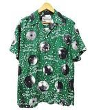 ワコマリア WACKO MARIA 18SS MIRROR BALL S/S HAWAIIAN SHIRTS ミラーボール 半袖アロハシャツ 緑 グリーン M レーヨン オープンカラー 開襟
