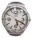 スウォッチ SWATCH 腕時計 SR626SW クオーツ 白×黒 シルバー 革ベルト ウォッチ