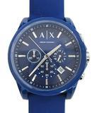 アルマーニエクスチェンジ A/X ARMANI EXCHANGE クロノグラフ腕時計 クオーツ ラバーベルト ブルー 青 AX7107 ウォッチ カレンダー 箱付 ☆AA☆