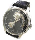 ハミルトン HAMILTON ジャズマスター オープンハート H325651 自動巻き 裏スケ SS レザーベルト ウォッチ 腕時計 ブラック 箱付