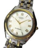 602e44fd88 セイコー SEIKO ローレル キネティック ファインセラミック×チタン 腕時計 シルバー×ゴールド色 4M21-0B00