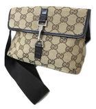 グッチ GUCCI GGキャンバス ウエストポーチ ボディバッグ 92543 ベージュ系 イタリア製 かばん 鞄