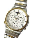 セイコー SEIKO SPORTS 100 ムーンフェイズ 腕時計 7A48-7000 動作品 訳あり クォーツ