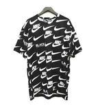 ブラックコムデギャルソン BLACK COMME des GARCONS ×ナイキ NIKE Tシャツ カットソー 半袖 ロゴ トップス 1D-T101 サイズXL 黒 ブラック