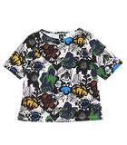 マリメッコ marimekko × ユニクロ UNIQLO 18SS 総柄 Tシャツ カットソー 半袖 コットン サイズS 241-409976 マルチカラー/16 ◎H12
