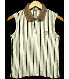 キャロウェイ CALLAWAY ゴルフ ポロシャツ ノースリーブ ストライプ 白 M 0730