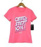 ナイキ NIKE ドライフィット カットソー Tシャツ 半袖 プリント 蛍光ピンク M 0325
