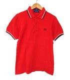 フレッドペリー FRED PERRY ポロシャツ 半袖 胸ロゴ刺繍 赤 91CM 36 0328