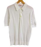 オールドイングランド OLD ENGLAND ニット ポロシャツ 半袖 36 白 0401