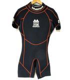 インハビタント inhabitant ウェットスーツ ショート ロゴプリント MS 黒 0403