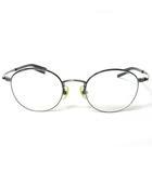 フォーナインズ 999.9 眼鏡 度入り チタン フレーム フルメタル S-680T メガネ サークル 49□21-142 シルバー 銀色 0402
