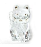 バカラ Baccarat 招き猫 ラッキーキャット フィギュリン クリア クリスタル インテリア 置物 本体のみ 0408