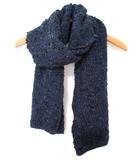 シーバイクロエ SEE BY CHLOE ニット マフラー ツイード ウール 羊毛 紺 190422