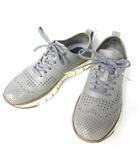 コールハーン COLE HAAN ゼログランド ウイングチップ レザー パンチング シューズ 靴 レザー スニーカー グレー 灰 7M 0429