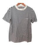 ファクトタム FACTOTUM Tシャツ カットソー ボーダー 半袖 胸ポケット 黒×白 44 191108