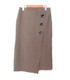ザラウーマン ZARA WOMAN 巻きスカート ミモレ丈 チェック 海外Sサイズ 191108