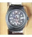 オーバーザストライプス OVER THE STRIPES ×BEAMS ミッキー ディズニー 腕時計 ウォッチ デイト 自動巻き ブラックミッキー モノトーン 黒 0312