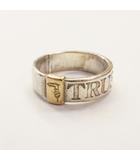 トラサルディ TRUSSARDI リング 925 K18 コンビ シルバー×ゴールド 指輪 ロゴ 刻印 #9 0526