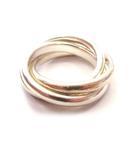 ティファニー TIFFANY & CO. リング 3連 指輪 シルバー 925 スターリング #9 0528