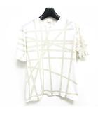 エルメス HERMES Tシャツ マルジェラ期 リボン プリント 半袖 カットソー 白 S 0623 IBS60