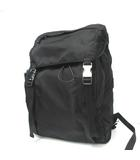 プラダ PRADA 美品 デイパック リュックサック 2VZ062 ナイロン ロゴ A4サイズ 黒 ブラック 0801