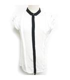 マルティニーク martinique ブラウス シャツ 半袖 シフォン フリルスリーブ ホワイト 白 0822 IBS70