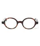 金子眼鏡 KANEKO OPTICAL KC-10 DEMI CELLULOID セルロイド めがね 丸眼鏡 度入り マーブル ブラウン 0906