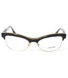 ミュウミュウ miumiu 眼鏡 フレーム VMU05M KAY-1 めがね ハーフリム 54□17-140 0906