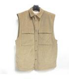 フィアオブゴッド Fear of God six collection corduroy vest キルティング コーデュロイ ベスト オーバーサイズ ブラウンベージュ L 0117 ☆AA★