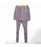 シアタープロダクツ THEATRE PRODUCTS ウール ニットパンツ 紫 パープル 0121