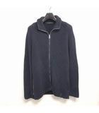 ルイヴィトン LOUIS VUITTON コットン ニットジャケット ジップアップ ブルゾン 紺 ネイビー S 0125