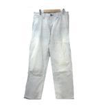 リー LEE フルネルソン 97184 デニム パンツ ジーンズ ヒッコリー 青 白 ブルー ホワイト ダメージ加工 30 コットン X