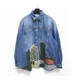 ロエベ LOEWE x ken price denim jacket  LAシリーズ プリント デニムジャケット Gジャン 青 ブルー 46 0315