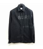 バーバリー BURBERRY スムースロゴシャツオックスフォード シャツ プリント 黒 ブラック XXS ECR3 0328