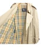 バーバリーズ Burberrys ヴィンテージ オールド トレンチコート ジャケット 裏地ノバチェック柄 イングランド製 大きいサイズ ベージュ 38 0412 ECR3