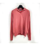 ジョンスメドレー JOHN SMEDLEY × アレッジ ALLEGE 17AW メリノウール ニット ポロシャツ 長袖 ピンク 2 0419