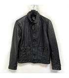 リーバイス ビンテージ クロージング LEVI'S VINTAGE CLOTHING 希少 1930s Menlo Cossack Leather Jacket レザージャケット イタリア製 黒 ブラック S 0423